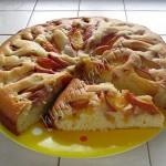 пирог с персиками нежный