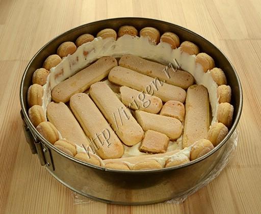 первый слой печенья