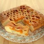 пирог с абрикосами из творожно-масляного теста