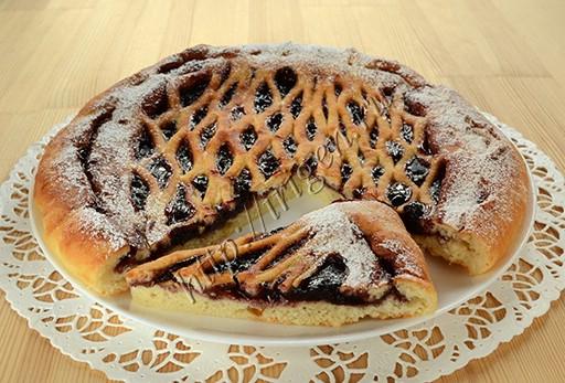 пирог с джемом из творожно-масляного теста