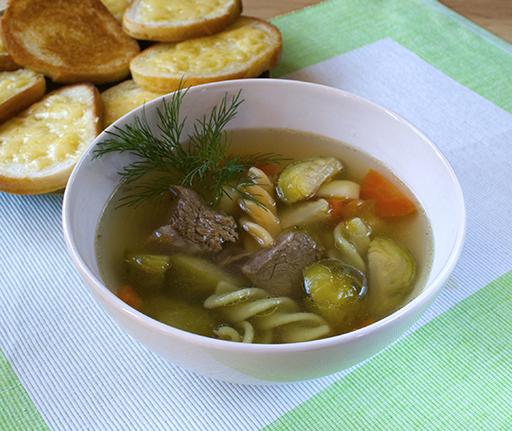 мясной суп без зажарки