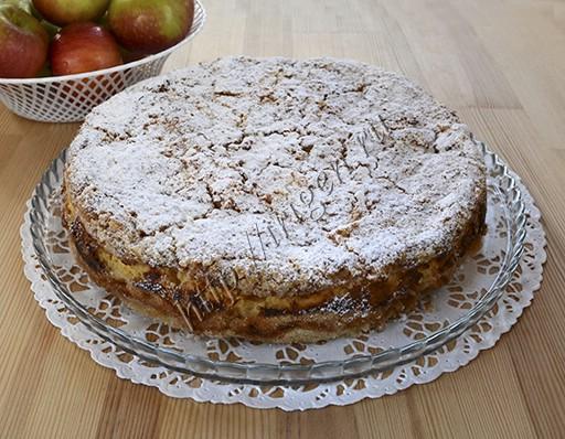 пирог творожно-яблочный насыпной