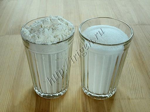 сахар и мука для шарлотки