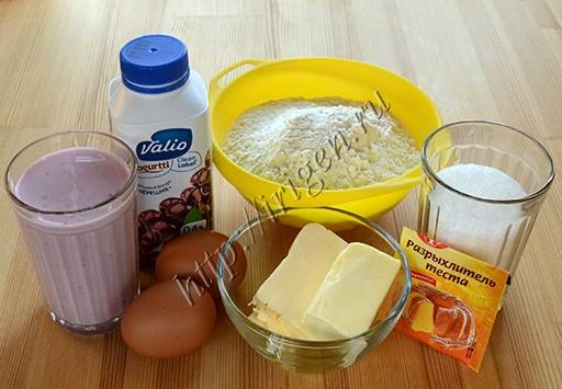 продукты для кекса на йогурте