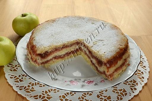 насыпной яблочный пирог в мультиварке
