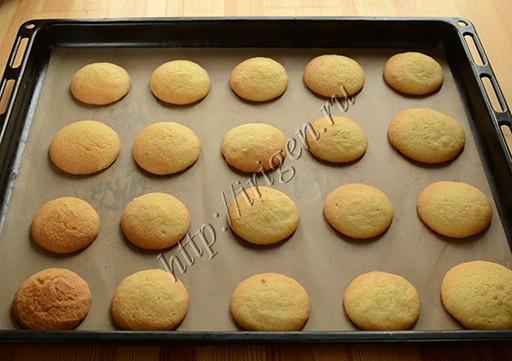 нежное печенье после выпечки
