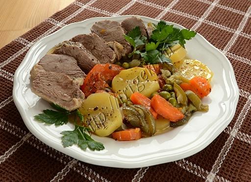 утиные грудки с овощами в фольге