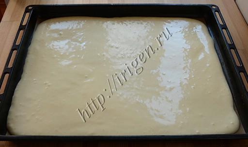 бисквитное тесто перед выпечкой