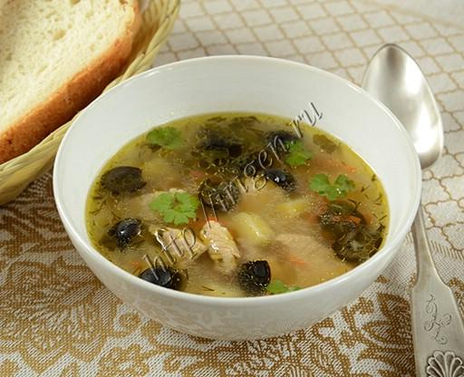 суп с индейкой и маслинами