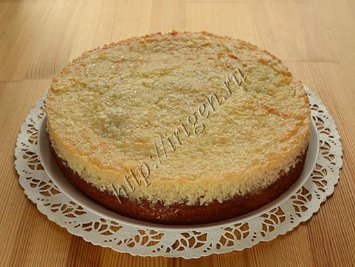 вишнево-кокосовый пирог