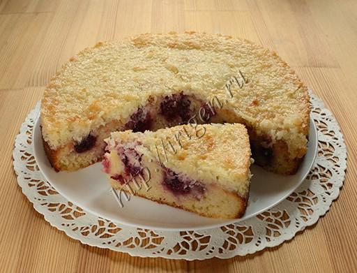 пирог вишнёво-кокосовый