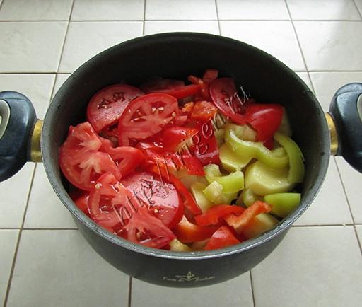 укладывание овощей