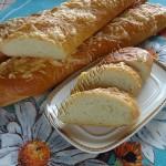 багеты из теста с творожным сыром