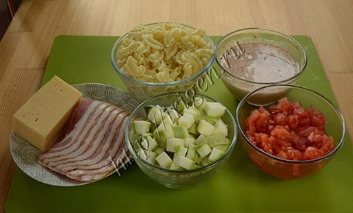 подготовка продуктов для запеканки