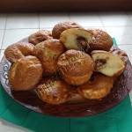 кексики на сливках с яблоками и шоколадом