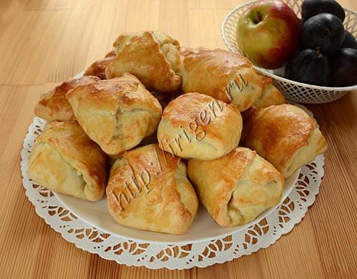 конвертики с яблоками и сливами