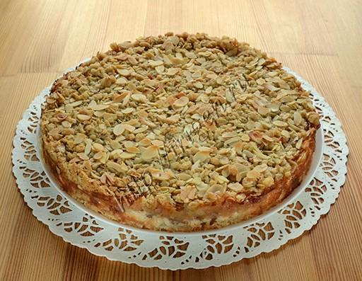 творожно-яблочный пирог с геркулесом после выпечки