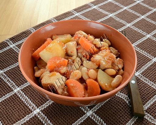 рагу с индейкой и фасолью в мультиварке