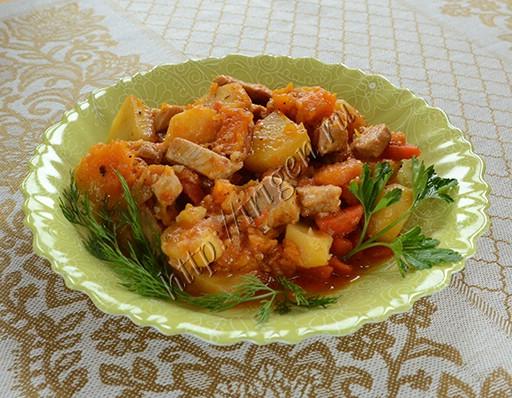 рагу из свинины с тыквой