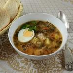 суп с индейкой и щавелем
