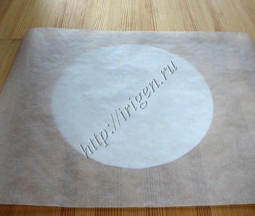 круг бумаги по размеру торта