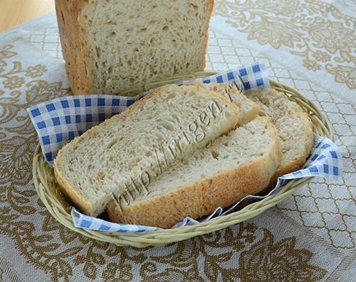 хлеб с пшеничной кашей в хлебопечке