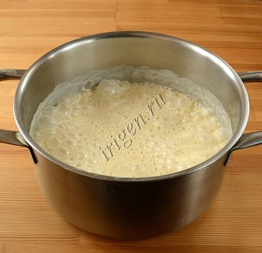 тесто для блинов после расстойки
