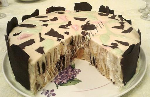 торт сюрприз - разрез
