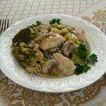 индейка с брокколи в молочном соусе