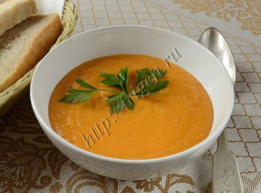 суп-пюре гороховый с тыквой