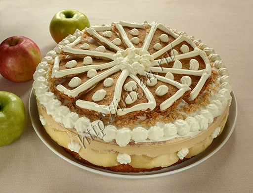 яблочный торт с карамельным муссом райское яблочко