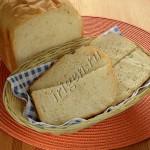 постный хлеб с пшенно-тыквенной кашей в хлебопечке