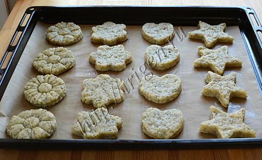 печенье с маком перед выпечкой