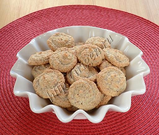 печенье белковое с миндалем и овсянкой