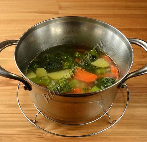 приготовление супа-пюре из брокколи