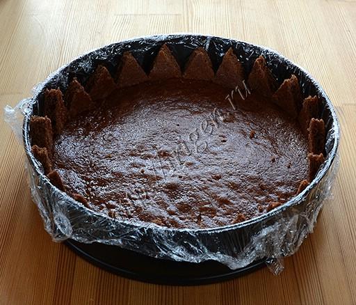 подготовка основы для торта