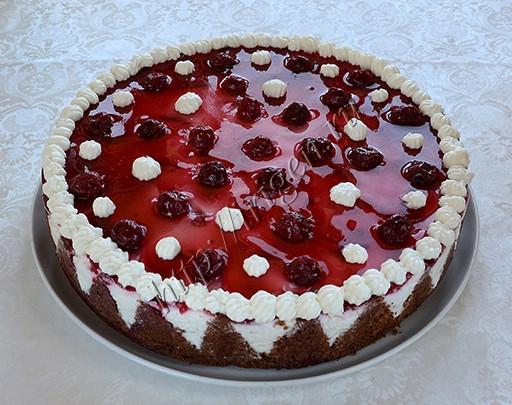 торт-суфле вишневый сад