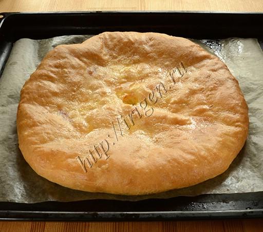 осетинский пирог после выпечки