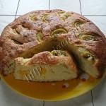 пирог сметанный с фруктами