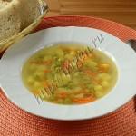 суп диетический с зеленым горошком