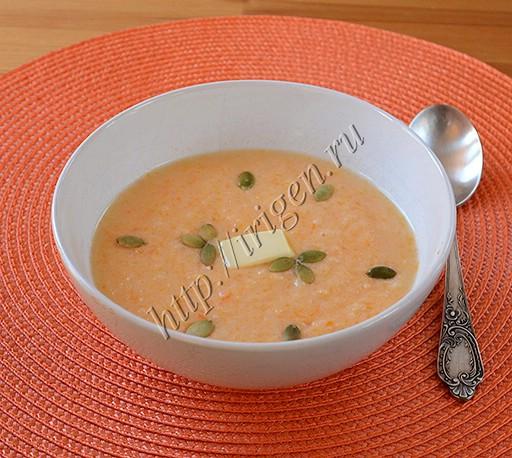 суп-пюре тыквенный с рисом