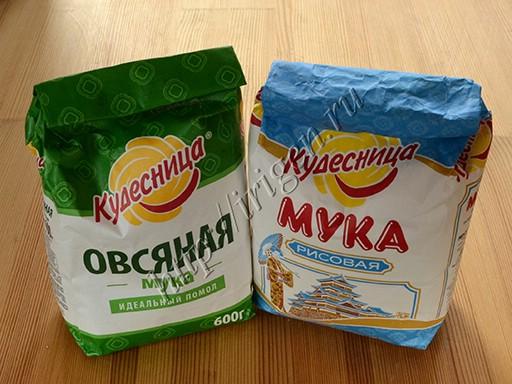 овсяная и рисовая мука
