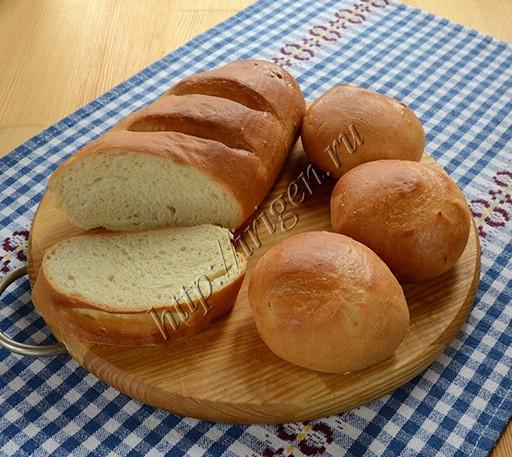 батон и булочки на картофельном отваре