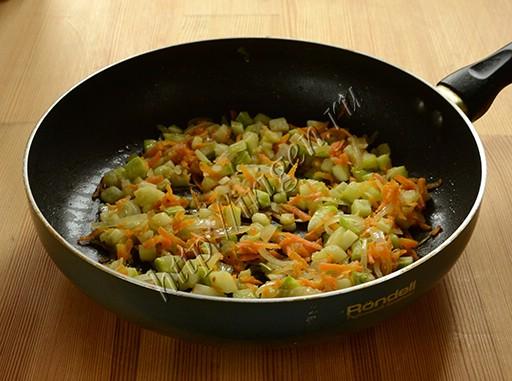 обжаренные овощи для лазаньи