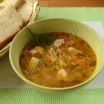 суп с индейкой, рисом и кабачком