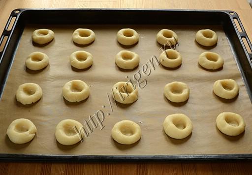 приготовление печенья с джемом