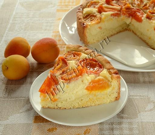 пирог с творожным сыром и абрикосами