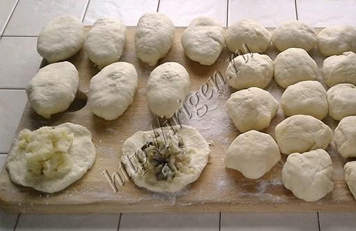 приготовление пирожков из заварного дрожжевого теста
