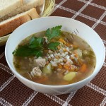 суп с индейкой, рисом и чечевицей