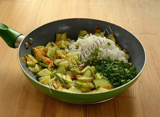 приготовление кабачковой запеканки с рисом